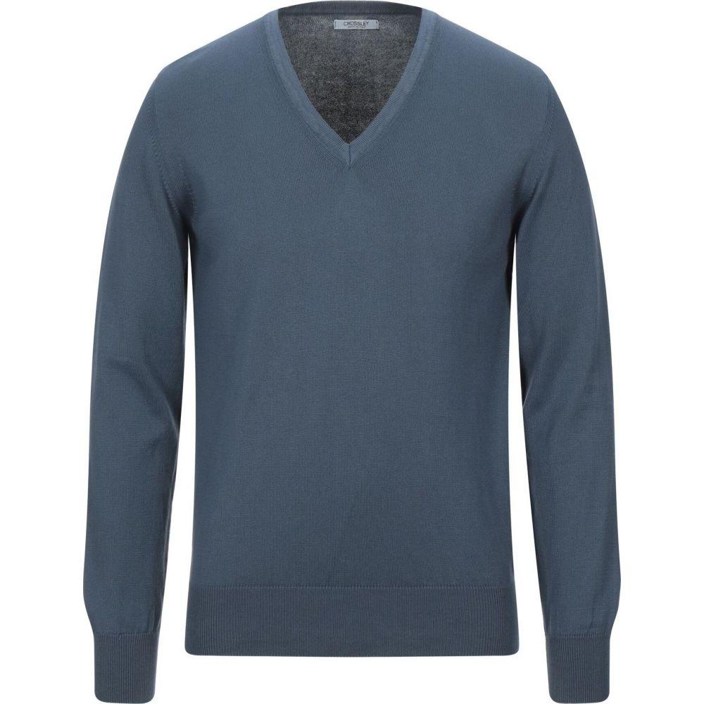 使い勝手の良い クロスリー メンズ トップス アウトレット☆送料無料 ニット セーター CROSSLEY sweater サイズ交換無料 blue Slate