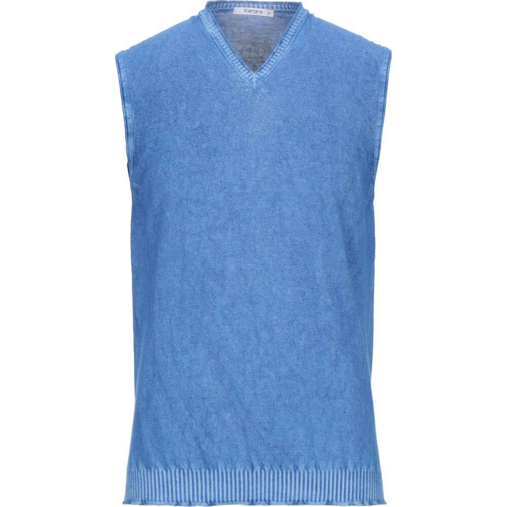 有名な カングラ カシミア メンズ トップス 新商品!新型 ノースリーブ Azure KANGRA sleeveless サイズ交換無料 sweater CASHMERE