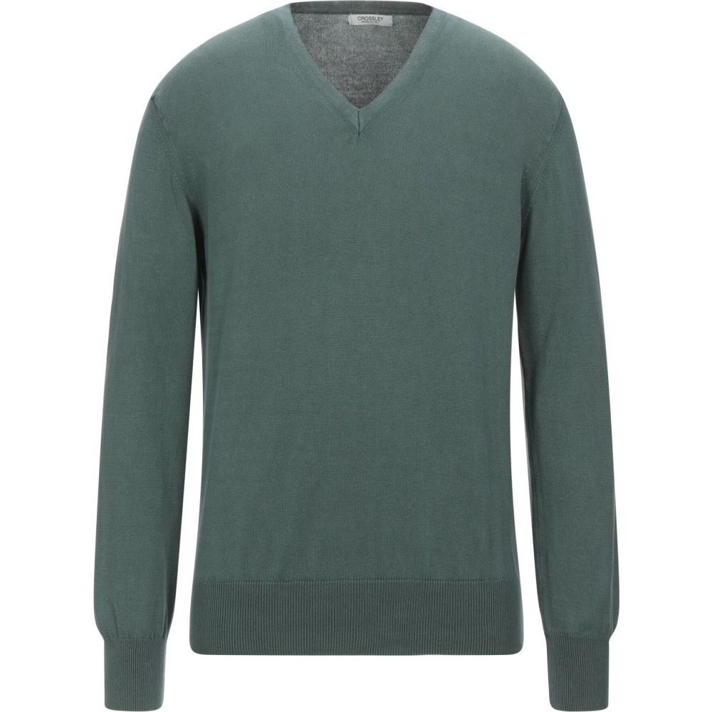 クロスリー メンズ トップス ニット セーター Green sweater ◆高品質 サイズ交換無料 限定Special Price CROSSLEY