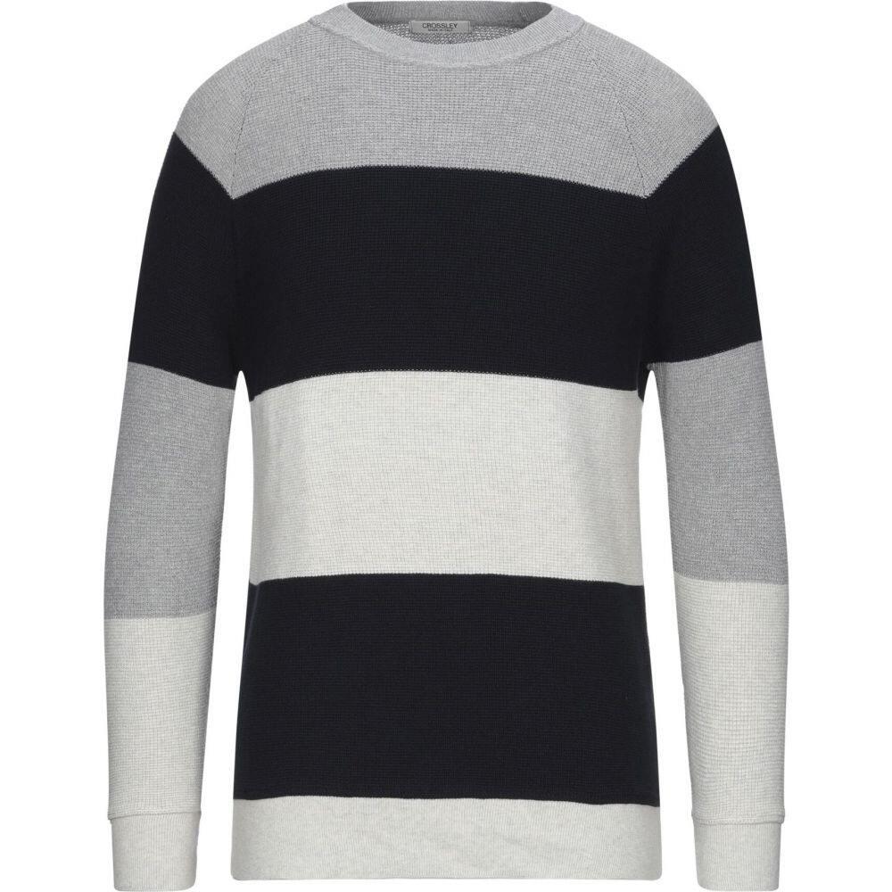 クロスリー メンズ トップス 新品未使用正規品 ニット セーター サイズ交換無料 grey sweater CROSSLEY Light 送料無料/新品