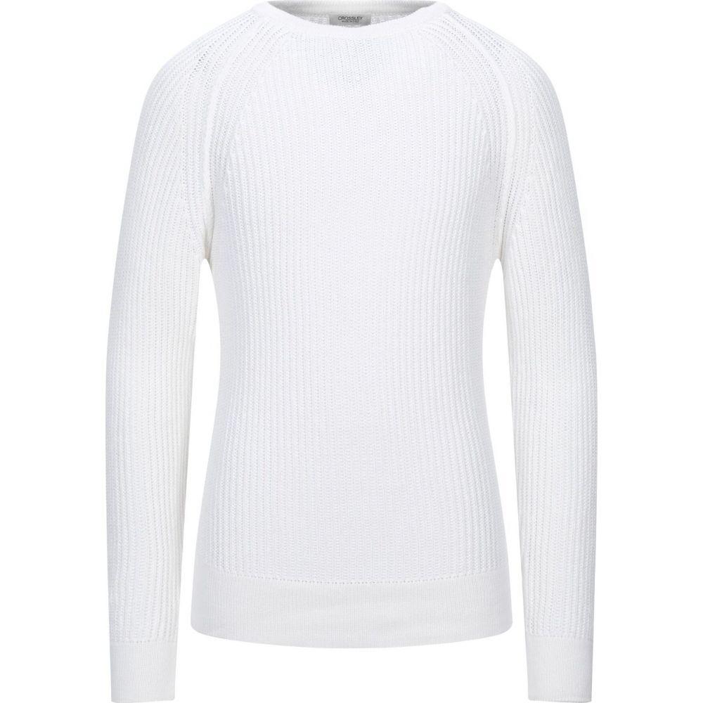 クロスリー メンズ 定番スタイル トップス ニット セーター White サイズ交換無料 sweater CROSSLEY 安い 激安 プチプラ 高品質