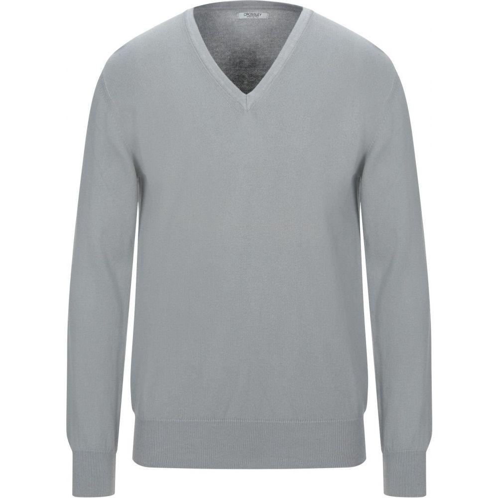 おトク クロスリー メンズ トップス ニット セーター sweater サイズ交換無料 年間定番 CROSSLEY Grey