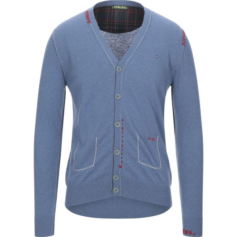 ショックリー メンズ トップス カーディガン Pastel 並行輸入品 送料無料/新品 blue サイズ交換無料 SHOCKLY cardigan