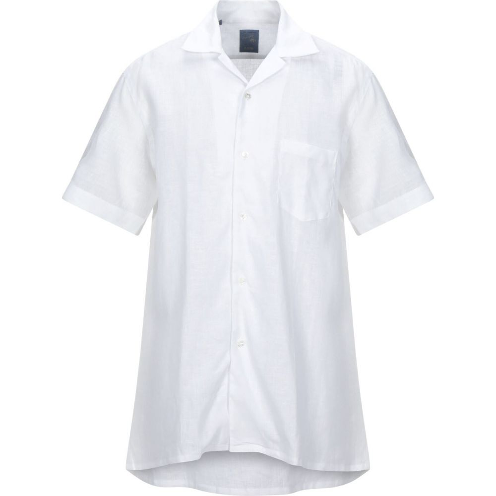 シャツ トップス【Linen Shirt】White Napoli BARBA バルバ メンズ