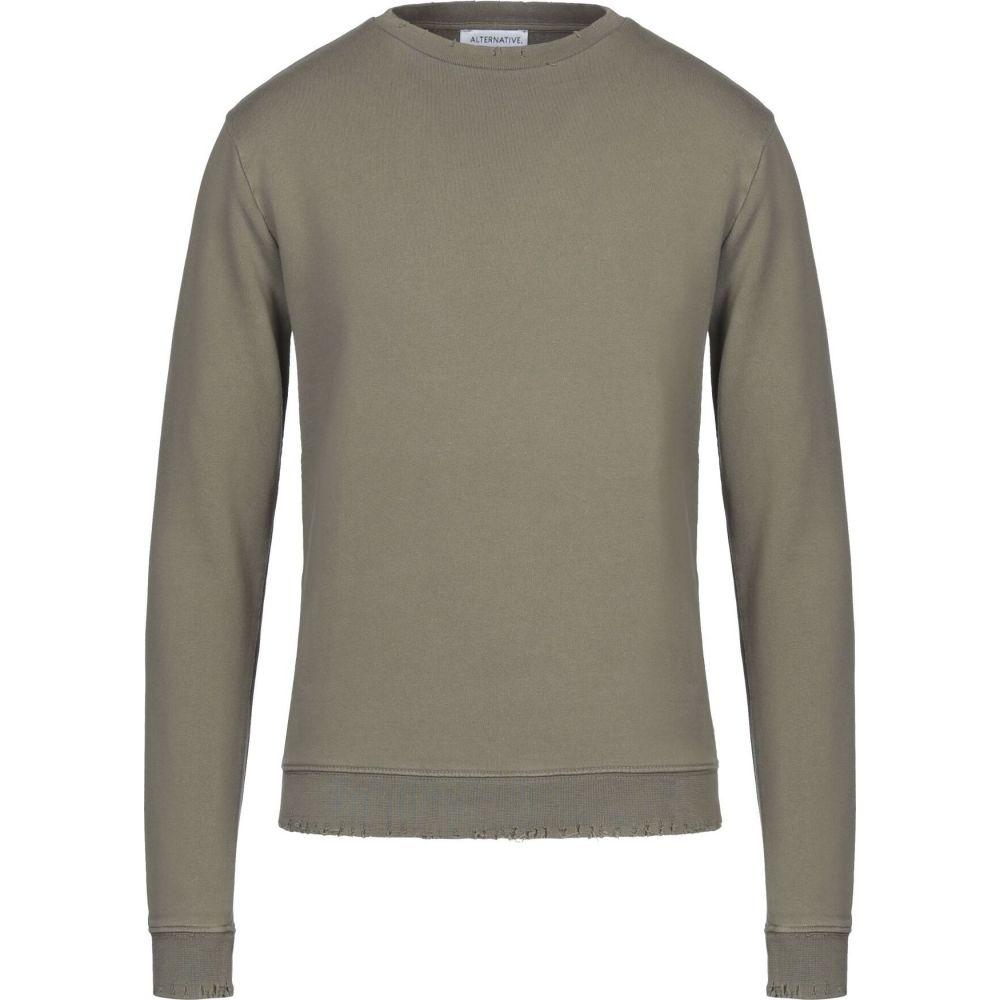 オルタナティヴ メンズ トップス 低価格 スウェット トレーナー ALTERNATIVE green サイズ交換無料 Sweatshirt Military 即納送料無料