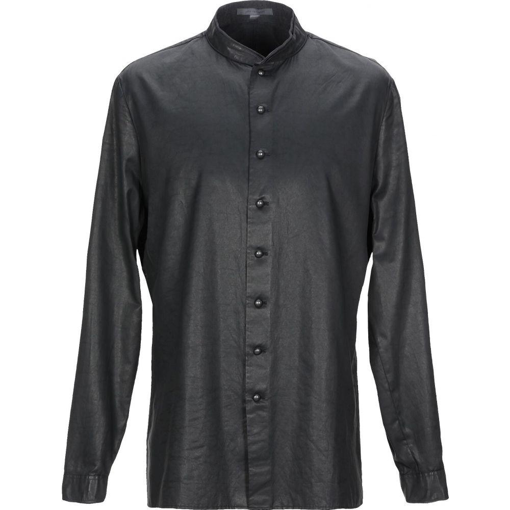ジョン バルベイトス JOHN VARVATOS メンズ シャツ トップス【solid color shirt】Black