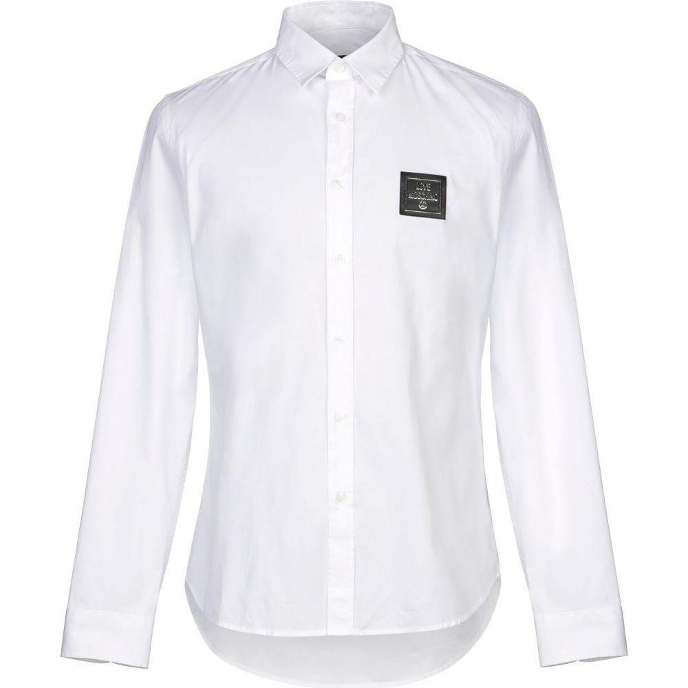 モスキーノ LOVE MOSCHINO メンズ シャツ トップス【solid color shirt】White