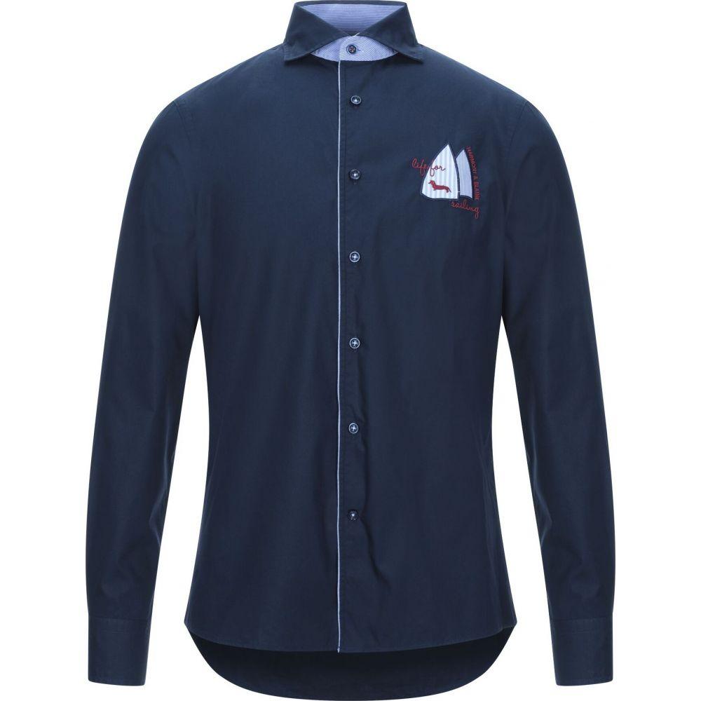 ハーモント アンド ブレイン HARMONT&BLAINE メンズ シャツ トップス【solid color shirt】Dark blue