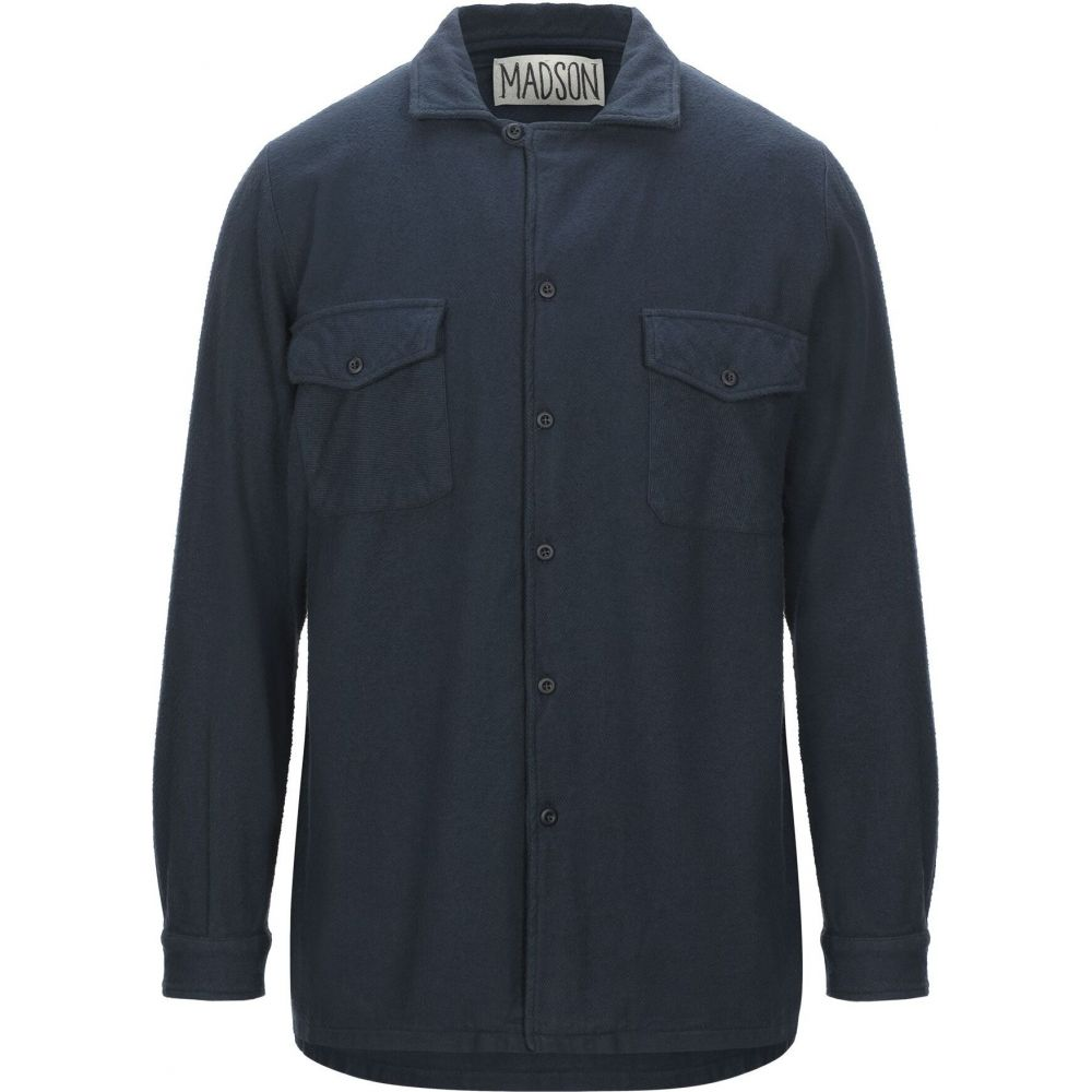 マッドソン MADSON メンズ シャツ トップス【solid color shirt】Dark blue
