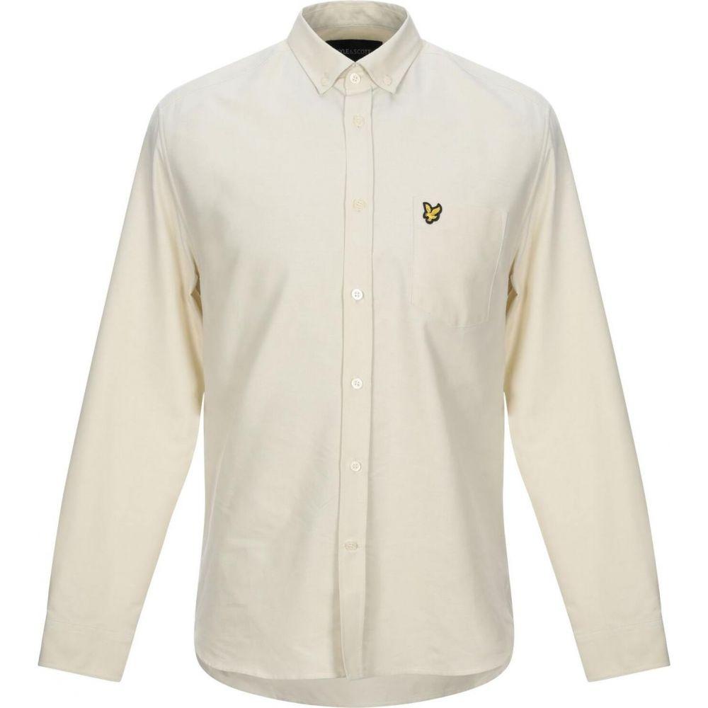 ライル アンド スコット LYLE & SCOTT メンズ シャツ トップス【solid color shirt】Beige