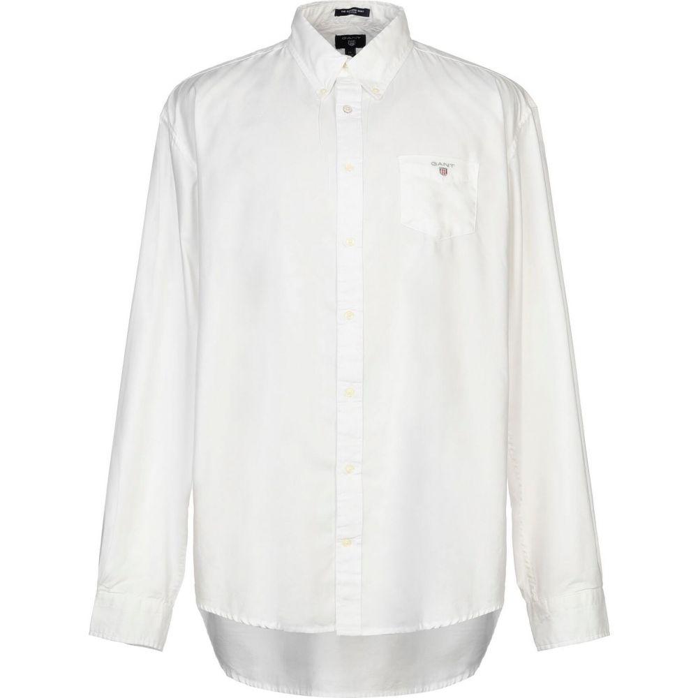 ガント GANT メンズ シャツ トップス【solid color shirt】White