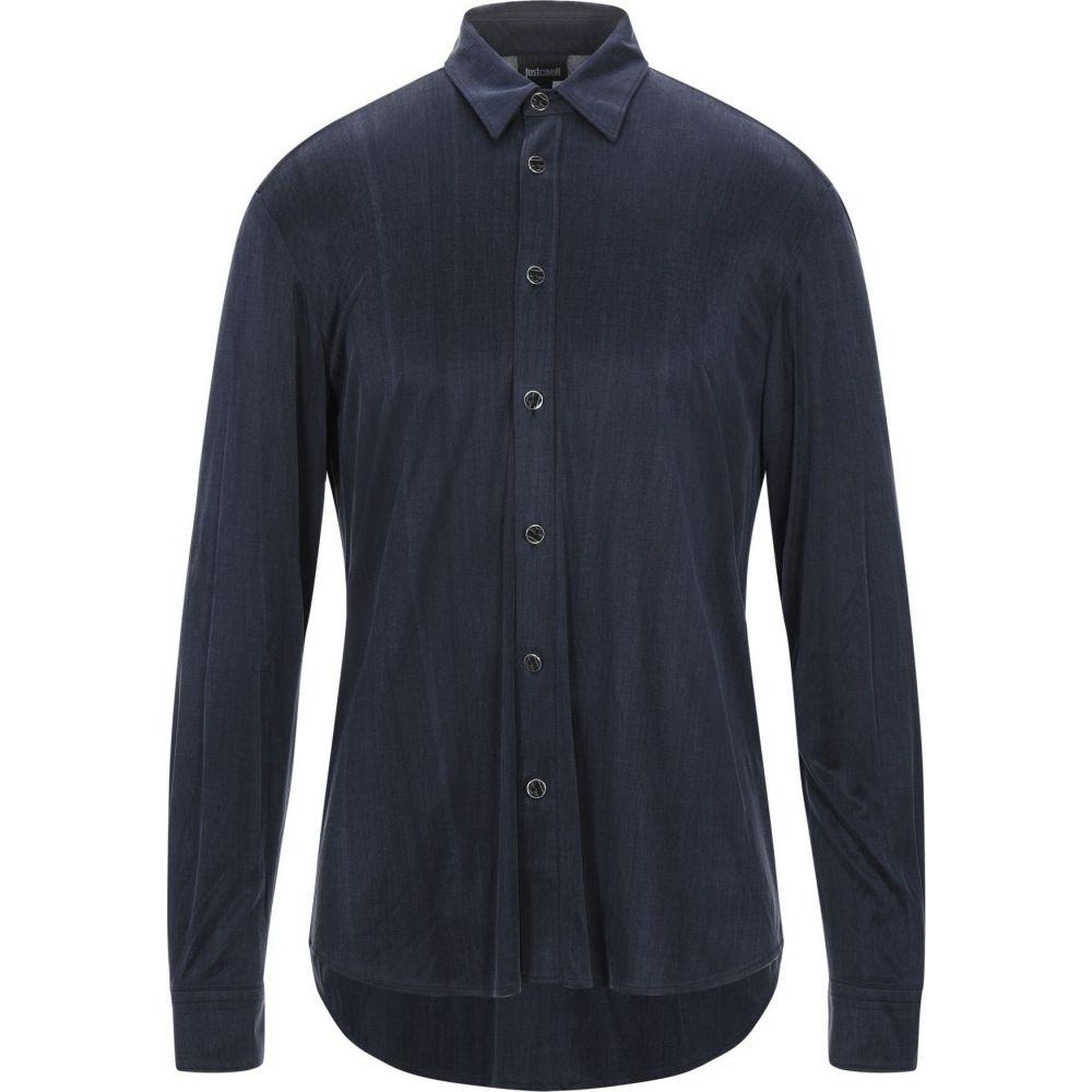 ジャスト カヴァリ JUST CAVALLI メンズ シャツ トップス【solid color shirt】Dark blue