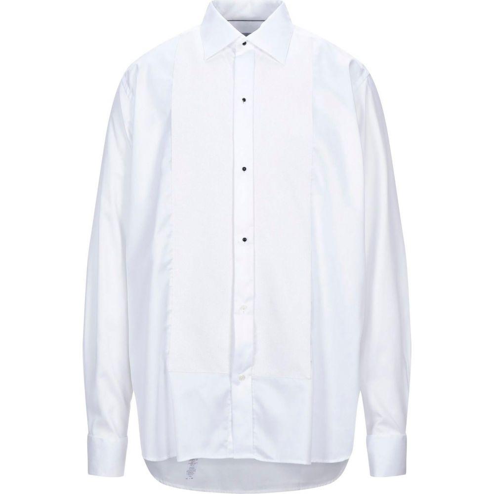 イートン ETON メンズ シャツ トップス【solid color shirt】White