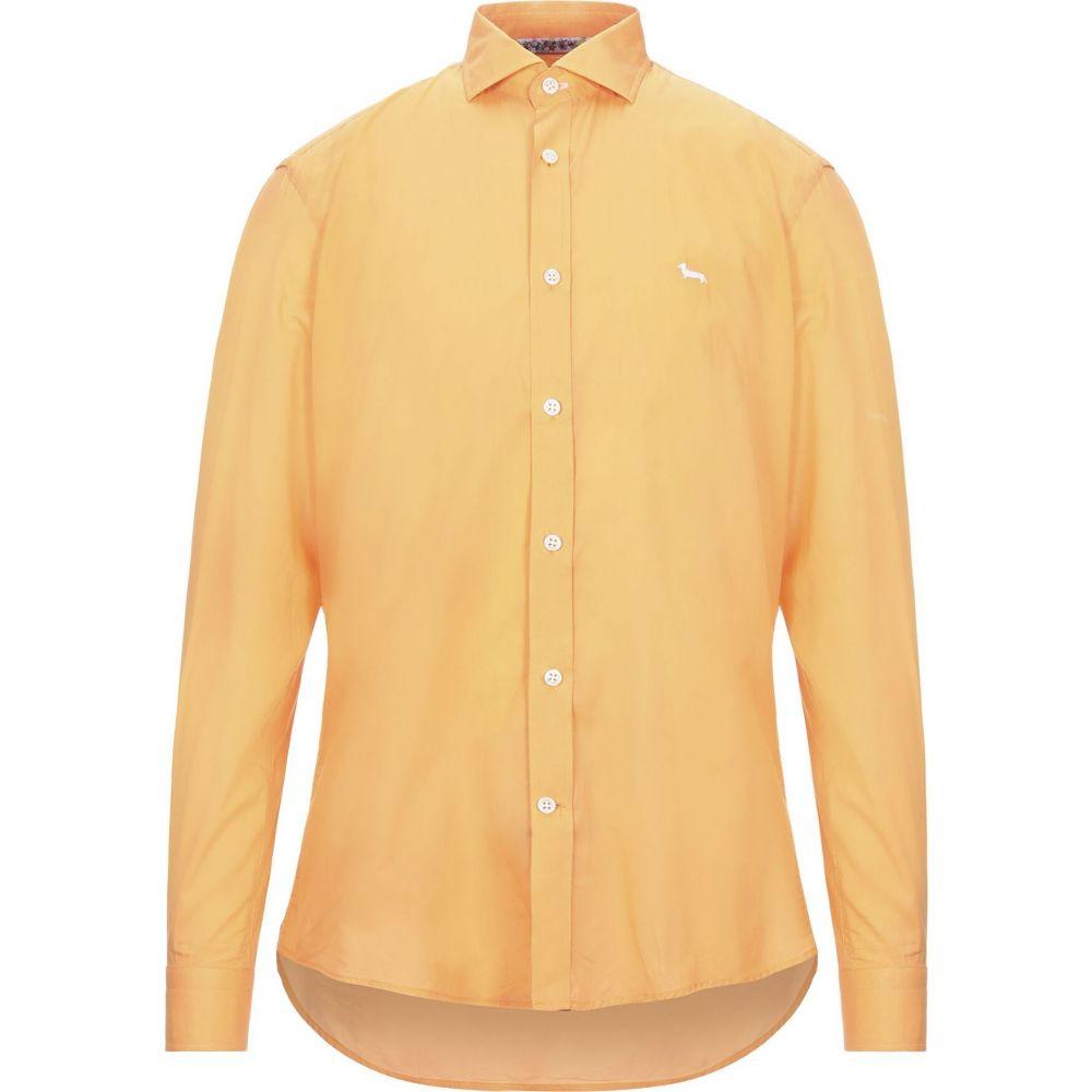 ハーモント アンド ブレイン HARMONT&BLAINE メンズ シャツ トップス【solid color shirt】Orange