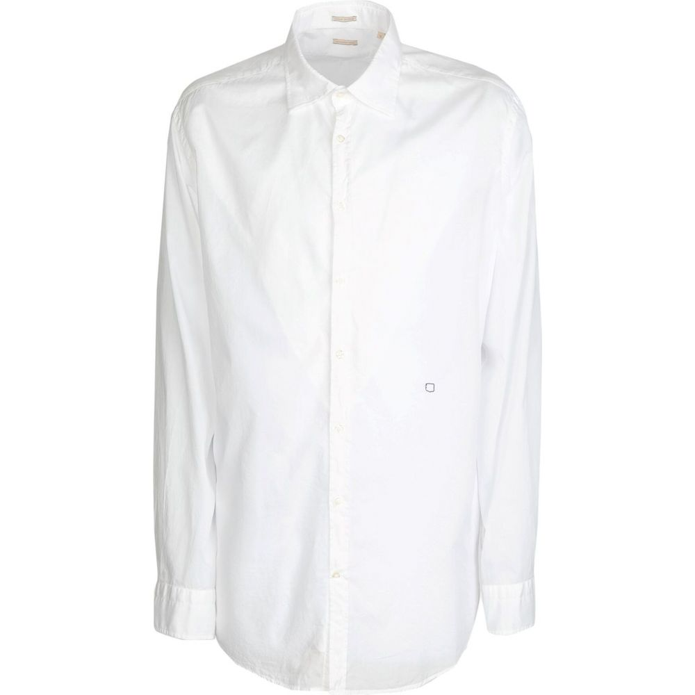 マッシモ アルバ MASSIMO ALBA メンズ シャツ トップス【solid color shirt】White