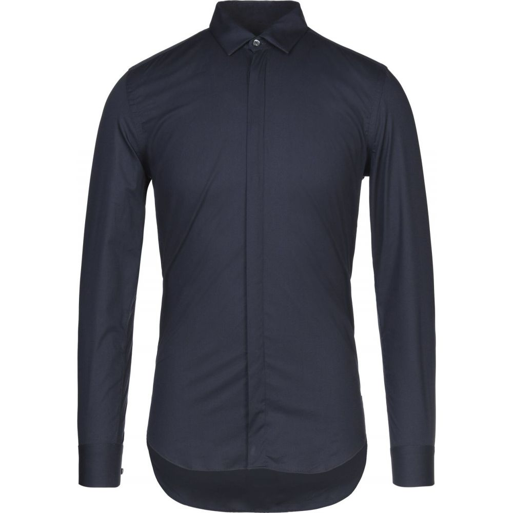 ガッザリーニ GAZZARRINI メンズ シャツ トップス【solid color shirt】Dark blue