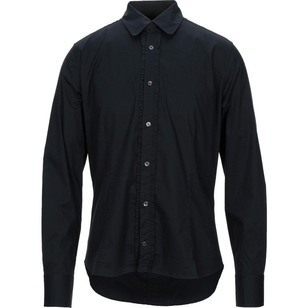 ガッザリーニ GAZZARRINI メンズ シャツ トップス【solid color shirt】Black
