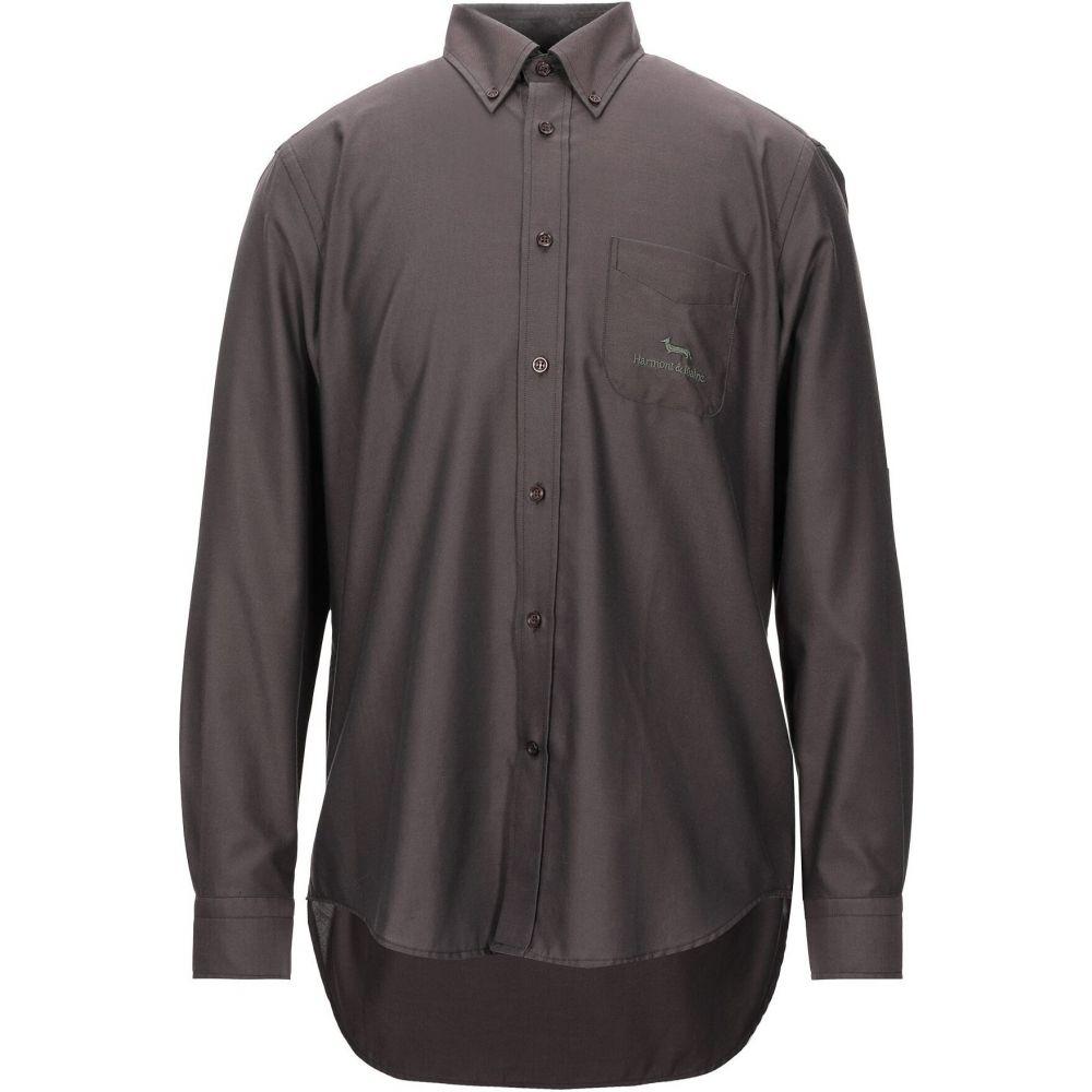 ハーモント アンド ブレイン HARMONT&BLAINE メンズ シャツ トップス【solid color shirt】Dark brown