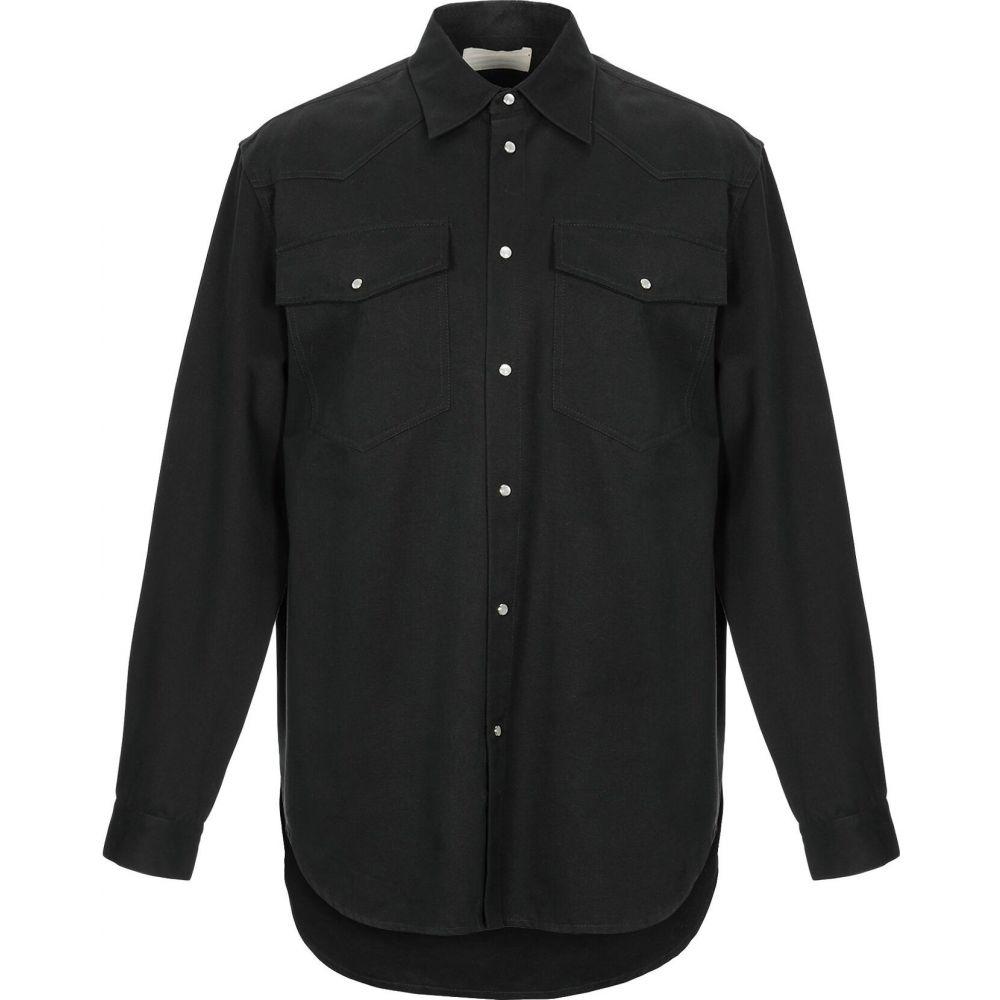 インノミネイト IH NOM UH NIT メンズ シャツ トップス【solid color shirt】Black
