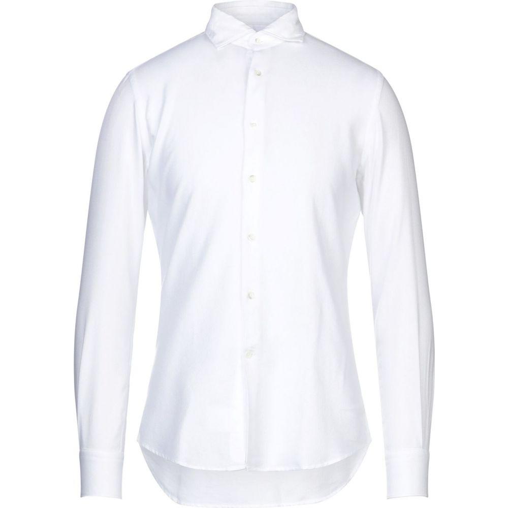 グランシャツ GLANSHIRT メンズ シャツ トップス【solid color shirt】White