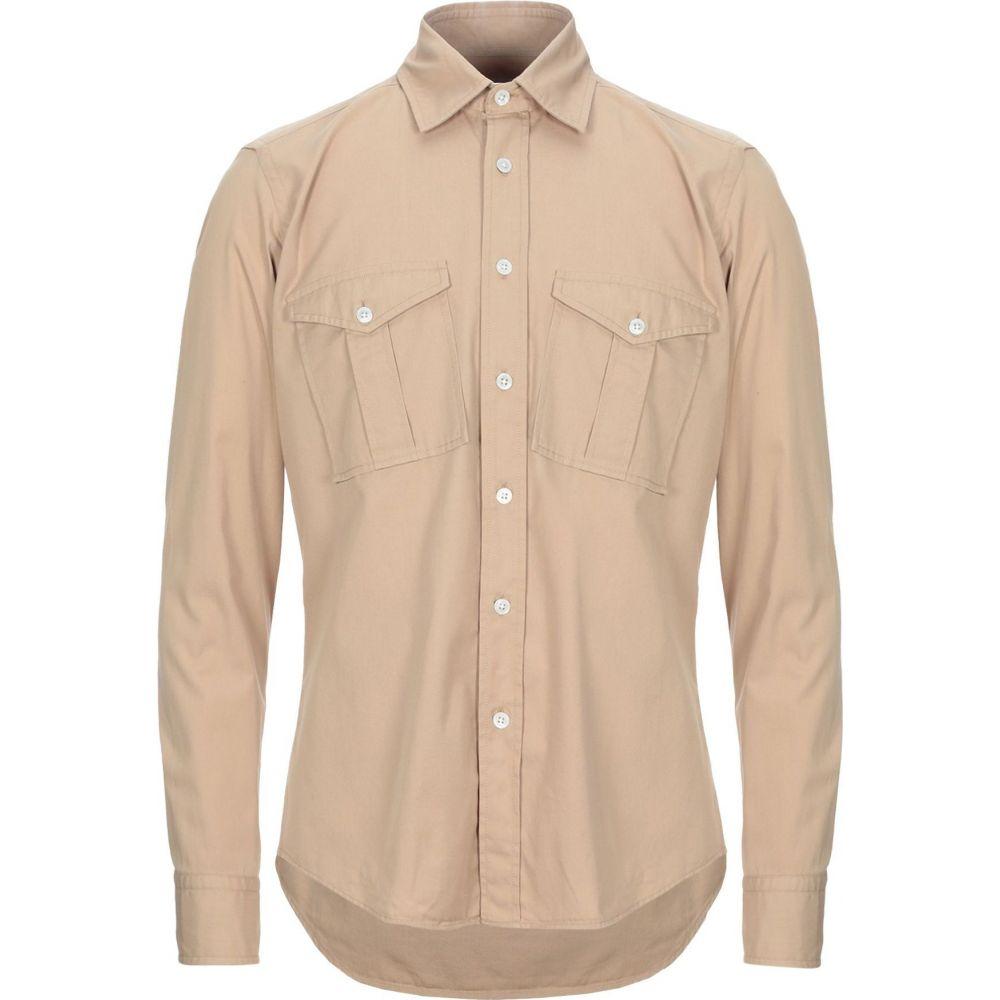 ハリスワーフロンドン HARRIS WHARF LONDON メンズ シャツ トップス【solid color shirt】Beige