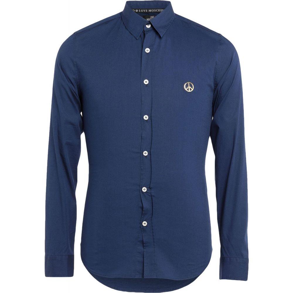 モスキーノ LOVE MOSCHINO メンズ シャツ トップス【solid color shirt】Dark blue