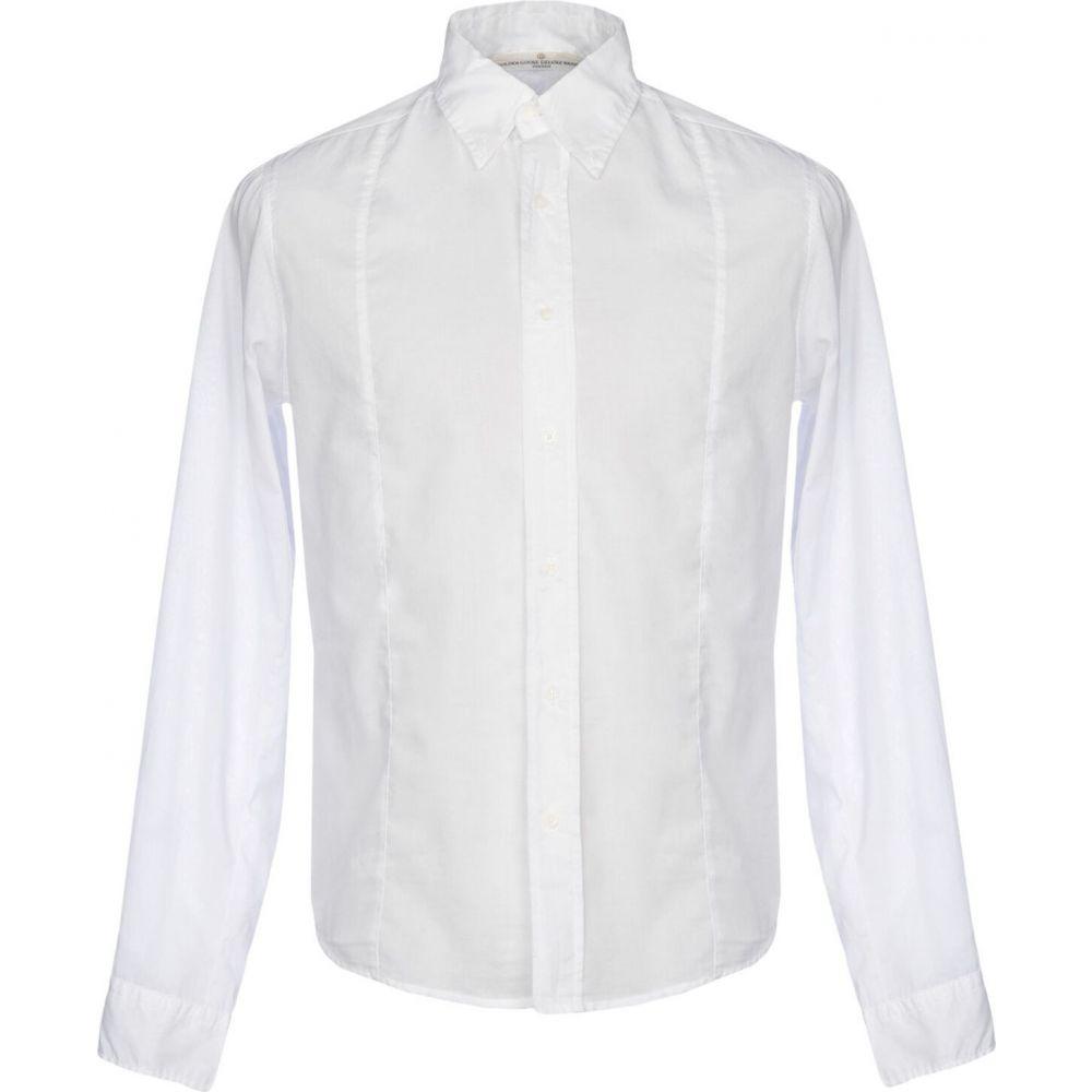 ゴールデン グース GOLDEN GOOSE DELUXE BRAND メンズ シャツ トップス【solid color shirt】White