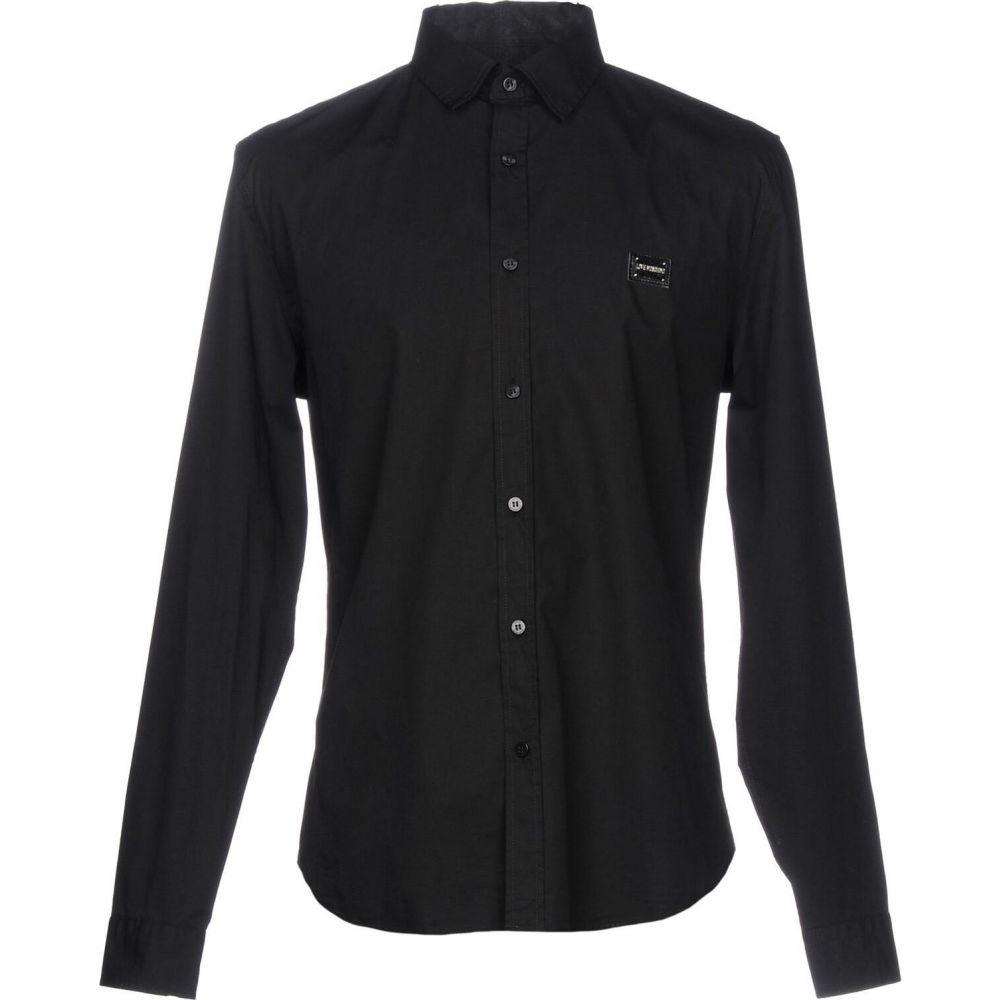 モスキーノ LOVE MOSCHINO メンズ シャツ トップス【solid color shirt】Black