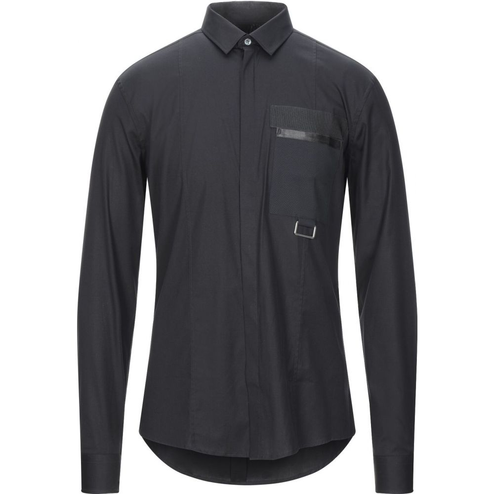 レゾム LES HOMMES メンズ シャツ トップス【solid color shirt】Black
