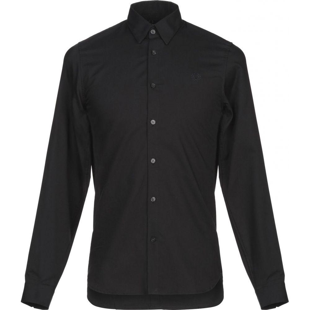 フレッドペリー FRED PERRY メンズ シャツ トップス【solid color shirt】Black