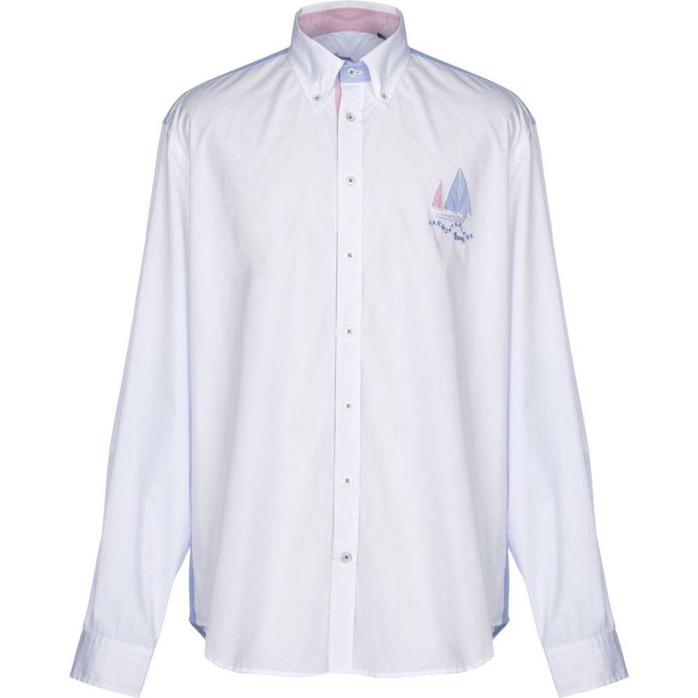 ハーモント アンド ブレイン HARMONT&BLAINE メンズ シャツ トップス【solid color shirt】White