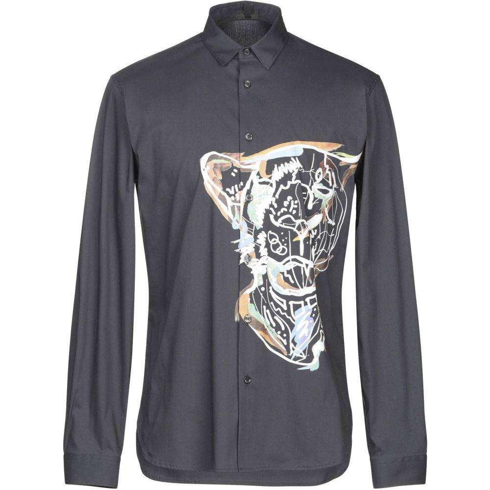 ジャスト カヴァリ JUST CAVALLI メンズ シャツ トップス【solid color shirt】Steel grey
