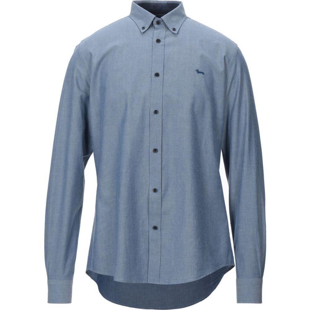 ハーモント アンド ブレイン HARMONT&BLAINE メンズ シャツ トップス【solid color shirt】Blue