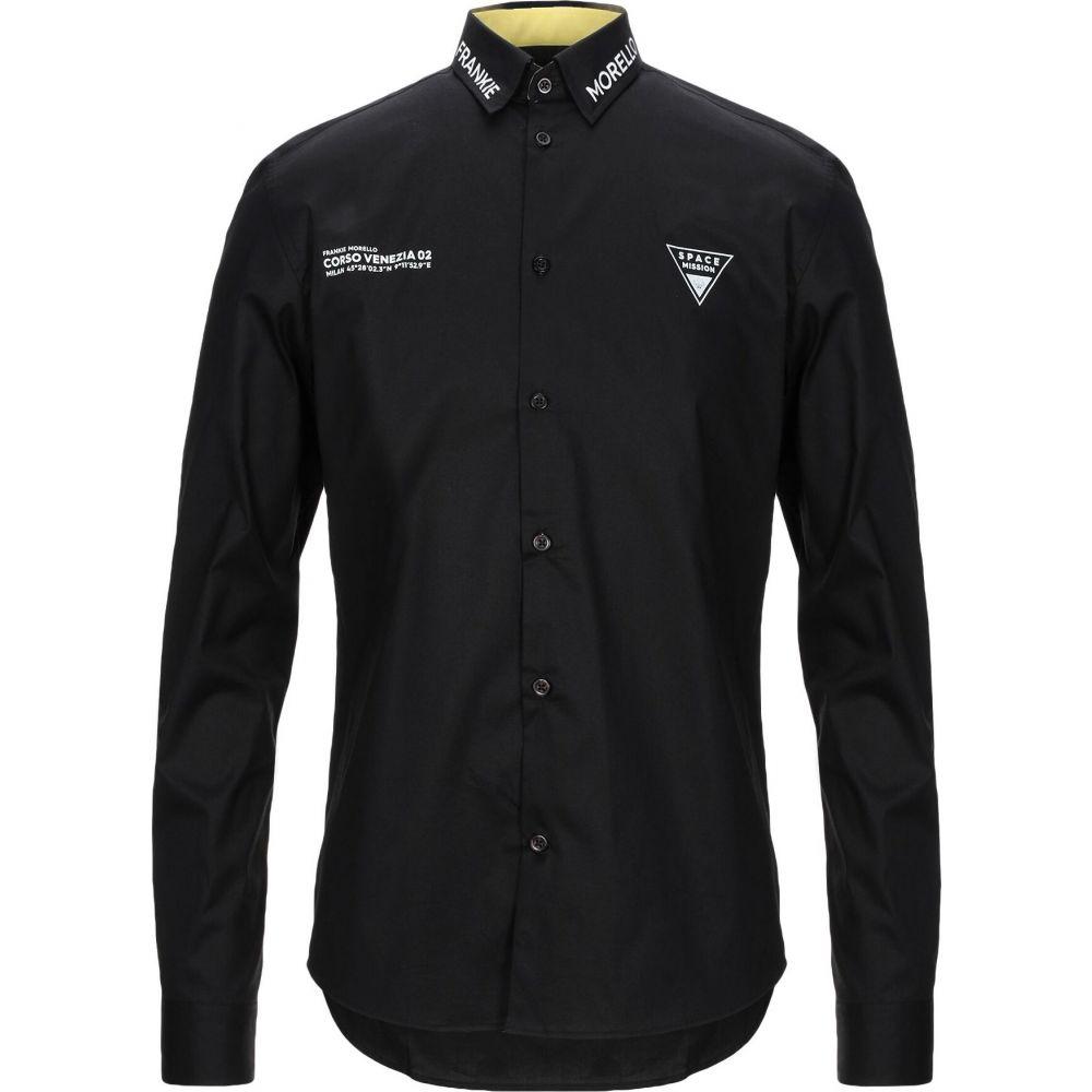 フランキーモレロ FRANKIE MORELLO メンズ シャツ トップス【solid color shirt】Black