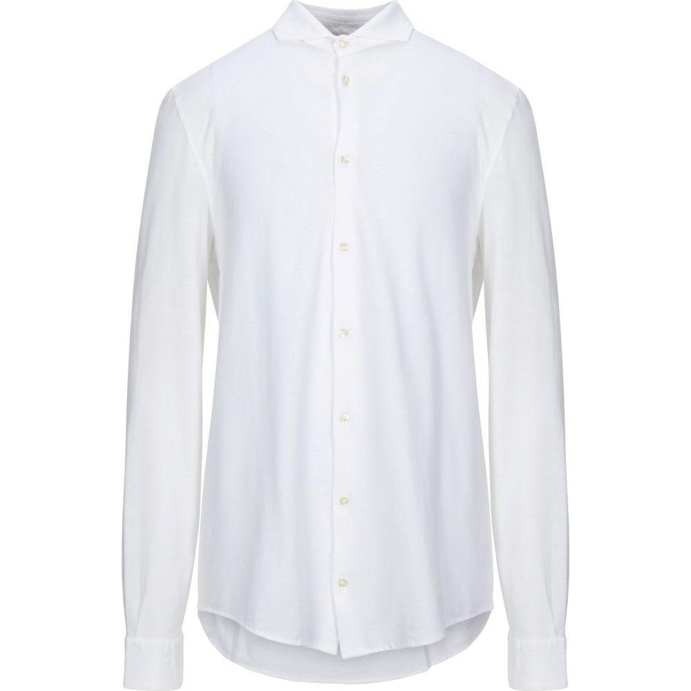 ラ フィレリア LA FILERIA メンズ シャツ トップス【solid color shirt】White