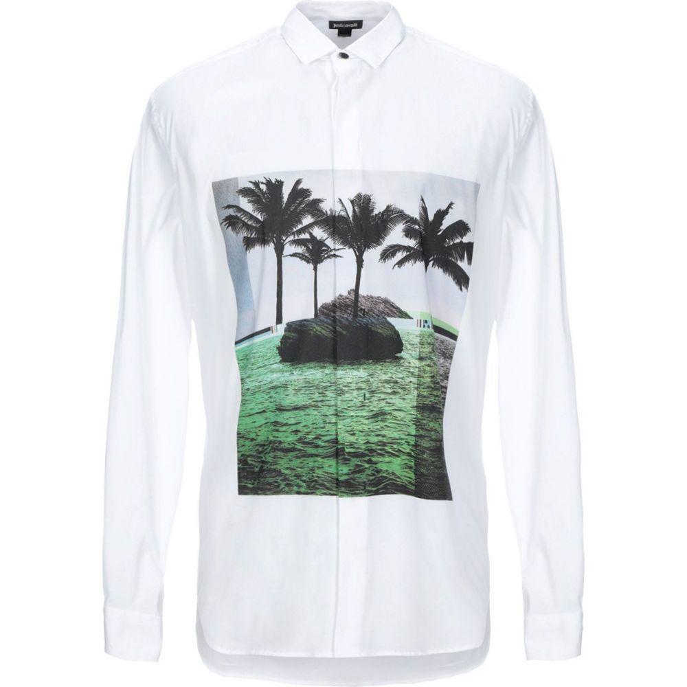 ジャスト カヴァリ JUST CAVALLI メンズ シャツ トップス【solid color shirt】White