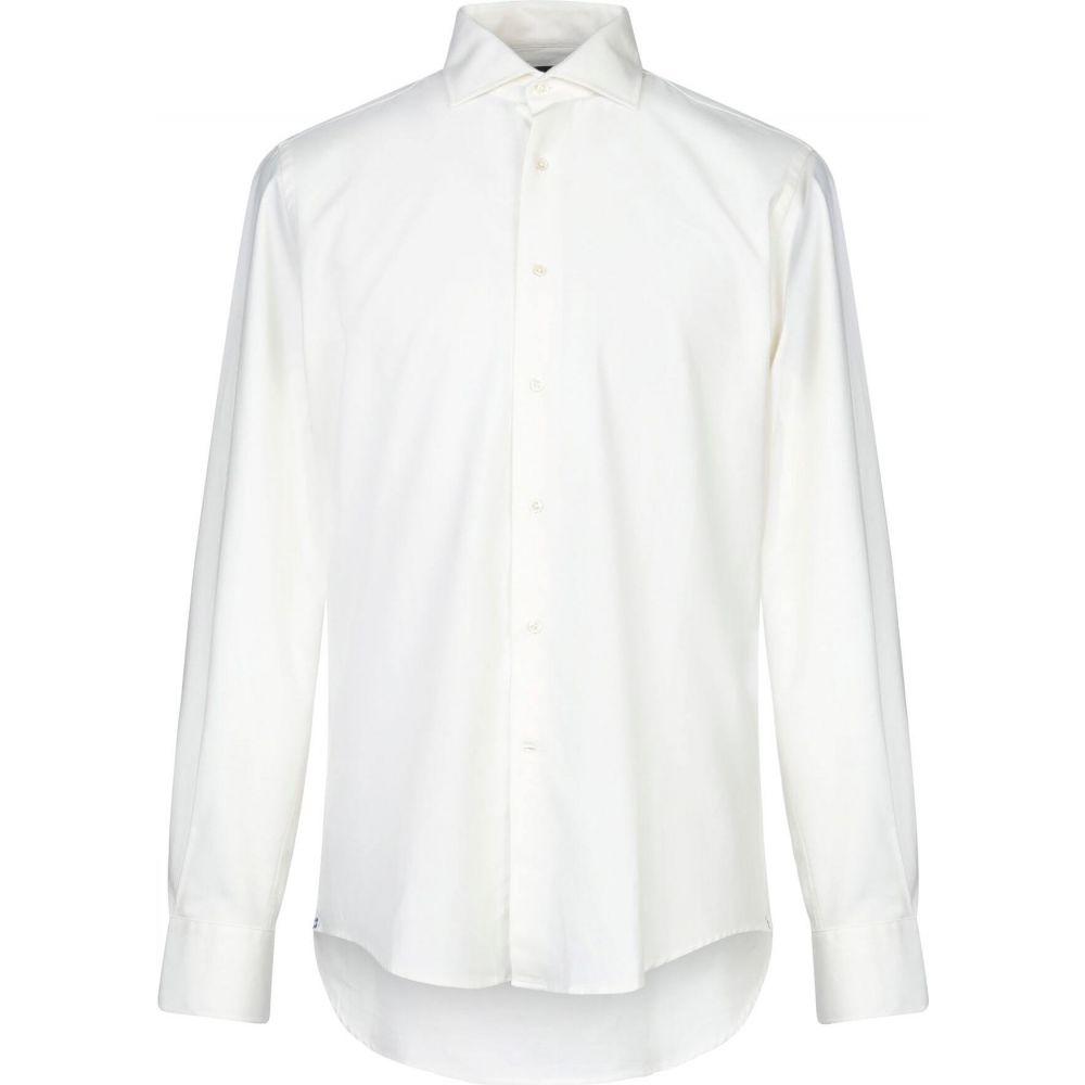 ラルディーニ LARDINI メンズ シャツ トップス【solid color shirt】Ivory