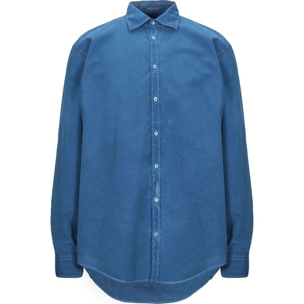 マッシモ アルバ MASSIMO ALBA メンズ シャツ トップス【solid color shirt】Blue