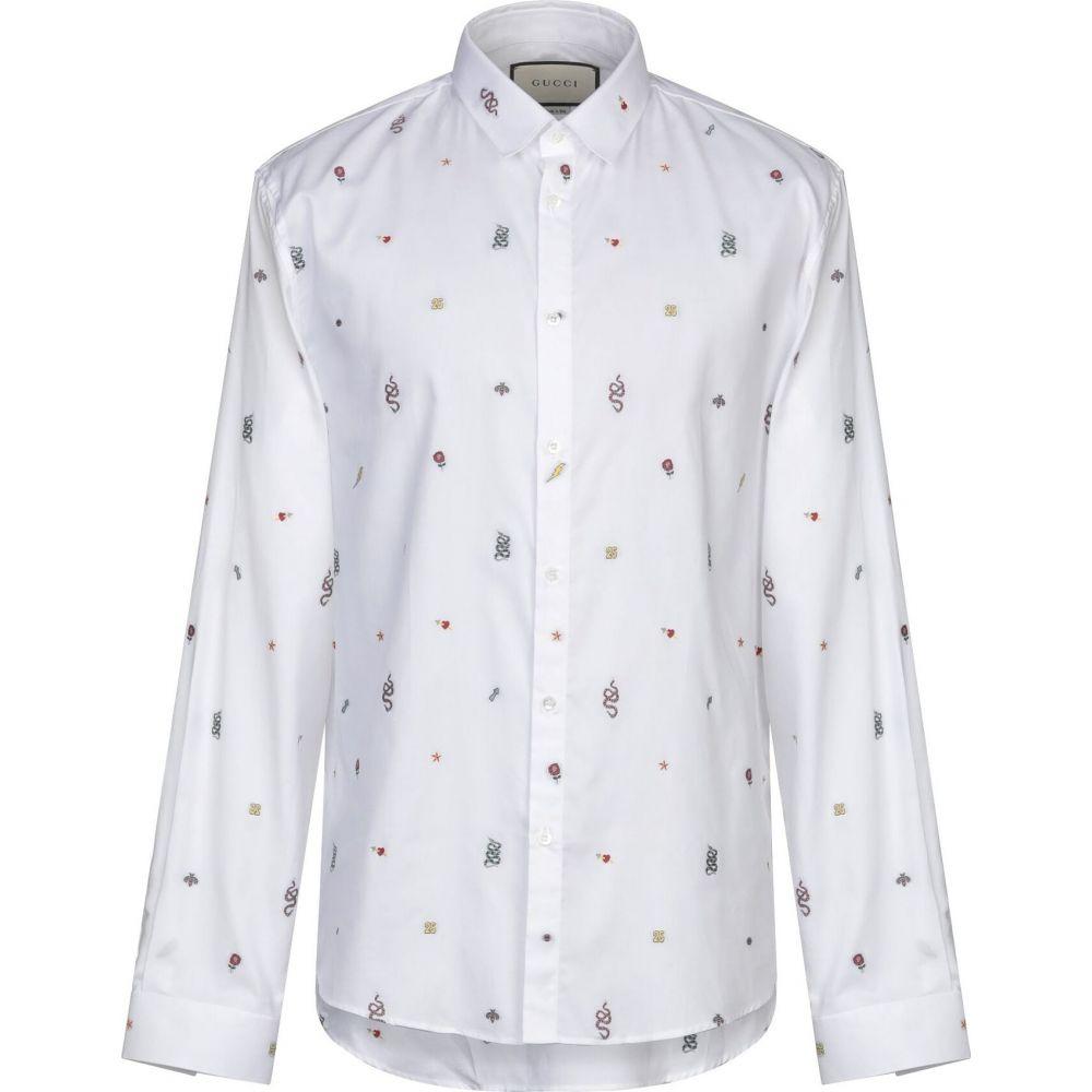 グッチ GUCCI メンズ シャツ トップス【solid color shirt】White