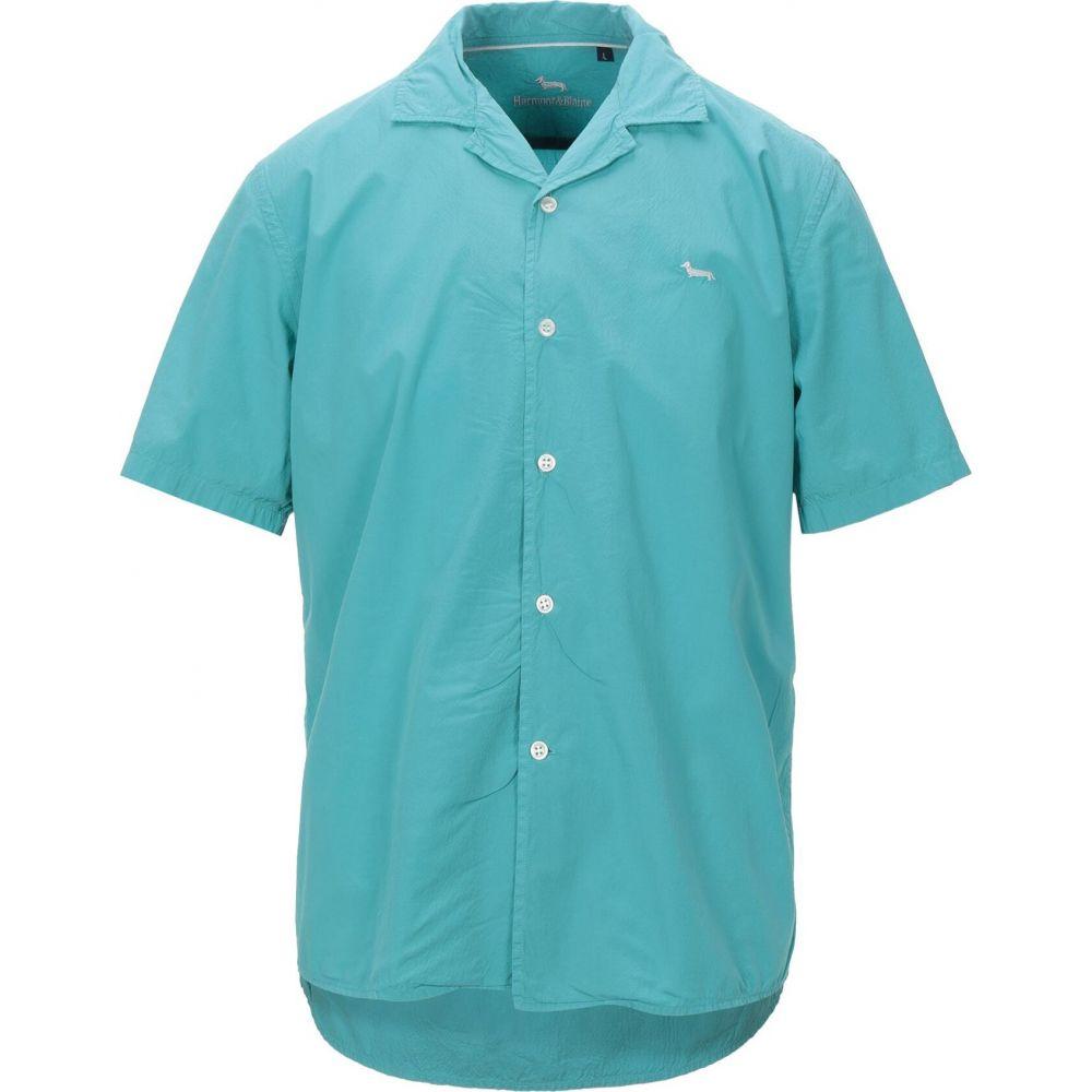 ブレイン ハーモント シャツ shirt】Turquoise HARMONT&BLAINE メンズ アンド color トップス【solid