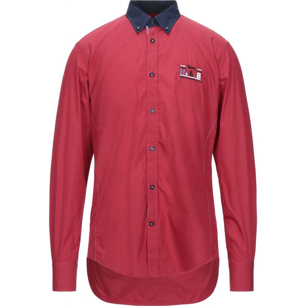ハーモント アンド ブレイン HARMONT&BLAINE メンズ シャツ トップス【solid color shirt】Red