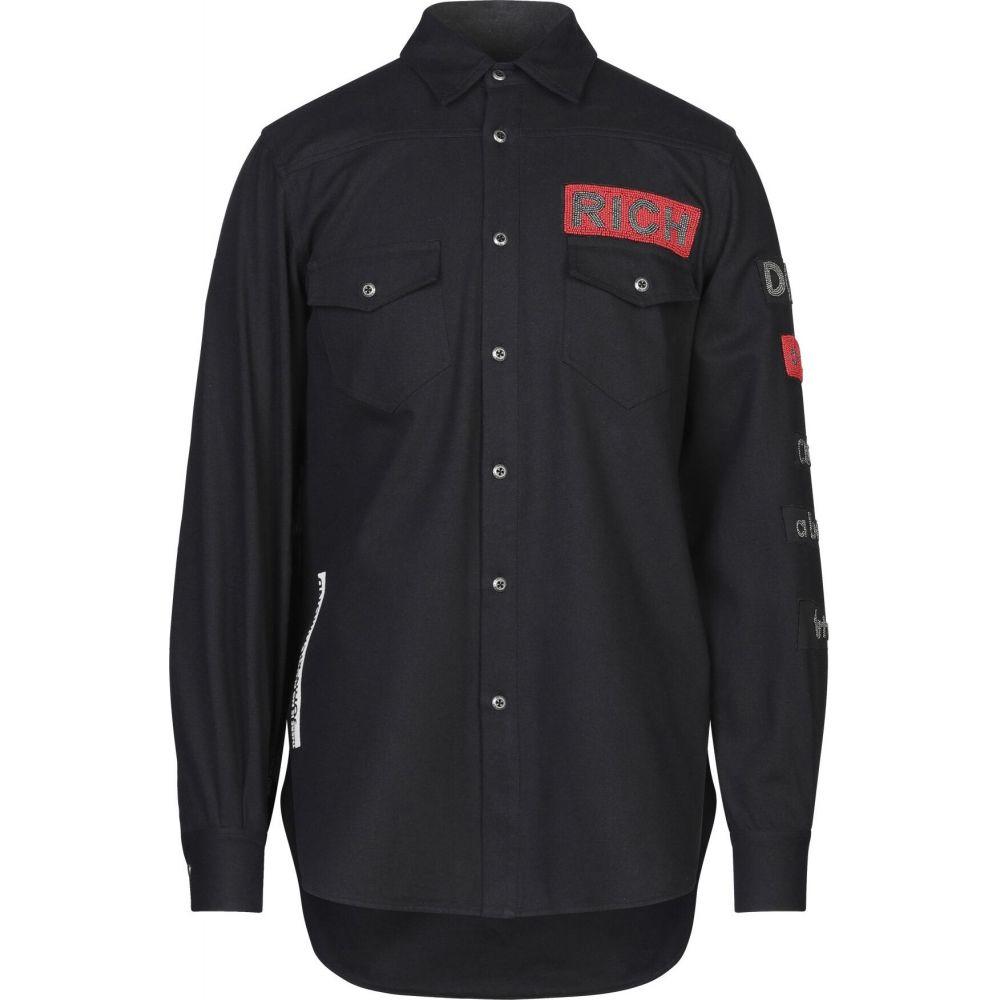 ジョン リッチモンド JOHN RICHMOND メンズ シャツ トップス【solid color shirt】Black