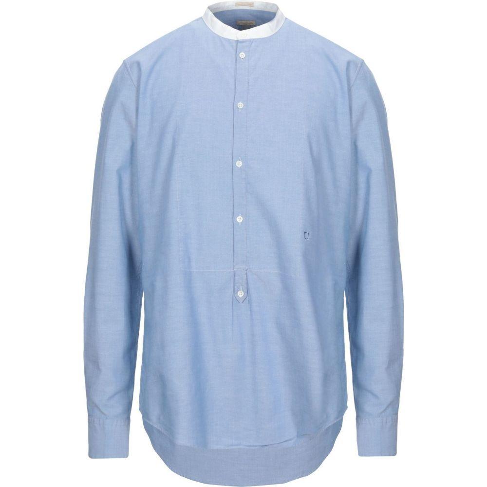マッシモ アルバ MASSIMO ALBA メンズ シャツ トップス【solid color shirt】Sky blue