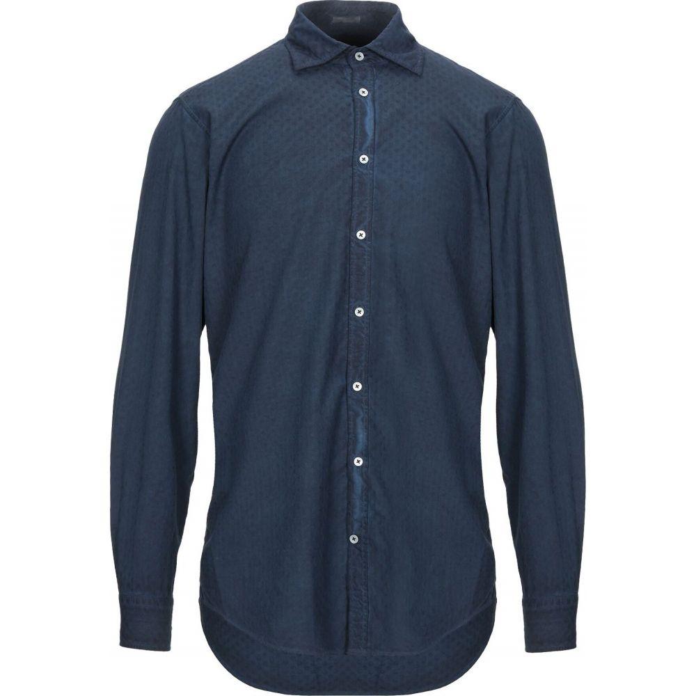 マッシモ アルバ MASSIMO ALBA メンズ シャツ トップス【solid color shirt】Dark blue