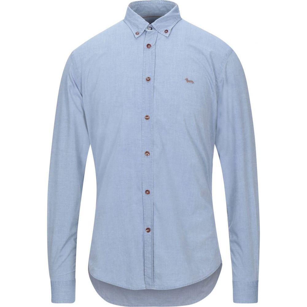 ハーモント アンド ブレイン HARMONT&BLAINE メンズ シャツ トップス【solid color shirt】Sky blue