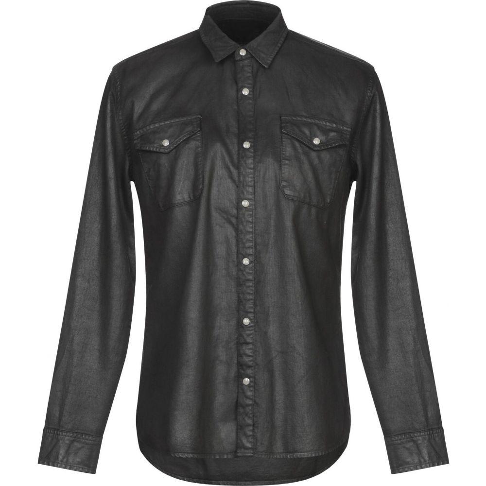 ジョン バルベイトス JOHN VARVATOS U.S.A. メンズ シャツ トップス【solid color shirt】Black