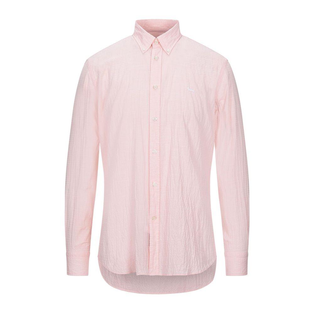ハーモント アンド ブレイン HARMONT&BLAINE メンズ シャツ トップス【solid color shirt】Salmon pink