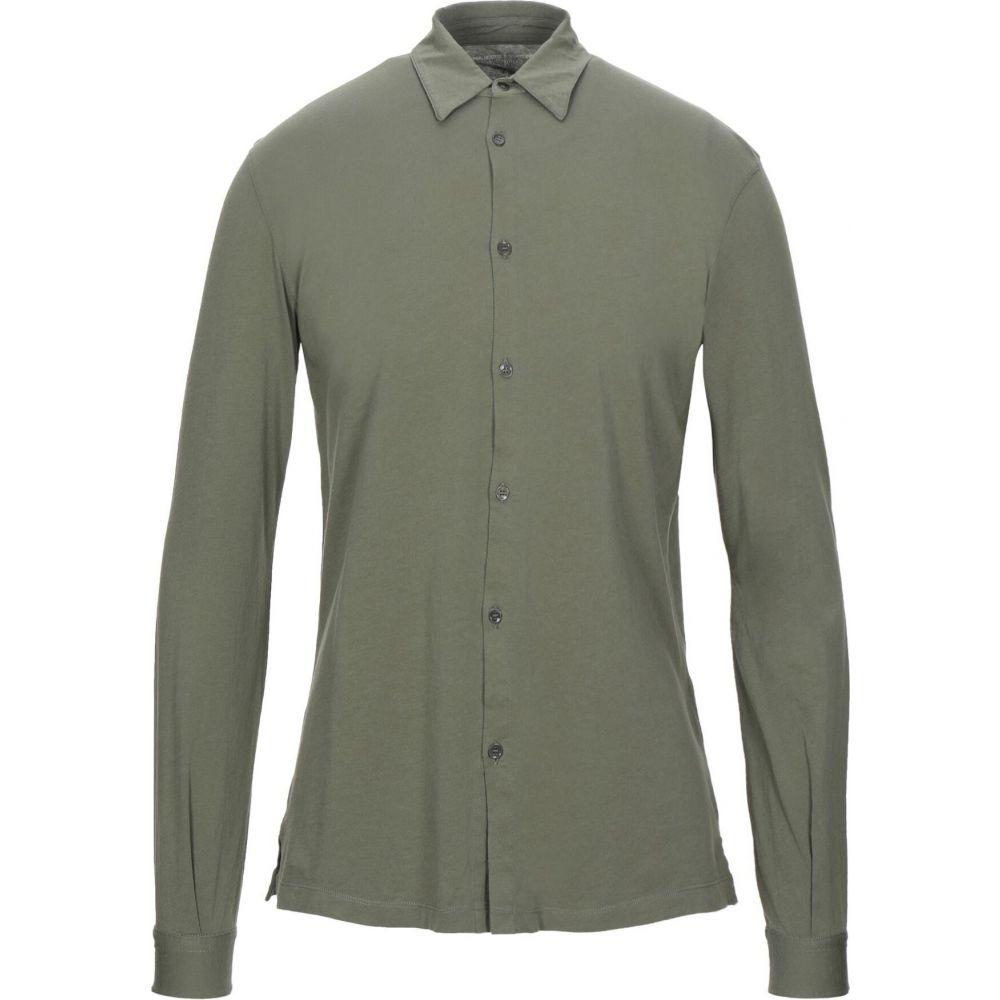 マジェスティック MAJESTIC FILATURES メンズ シャツ トップス【solid color shirt】Military green