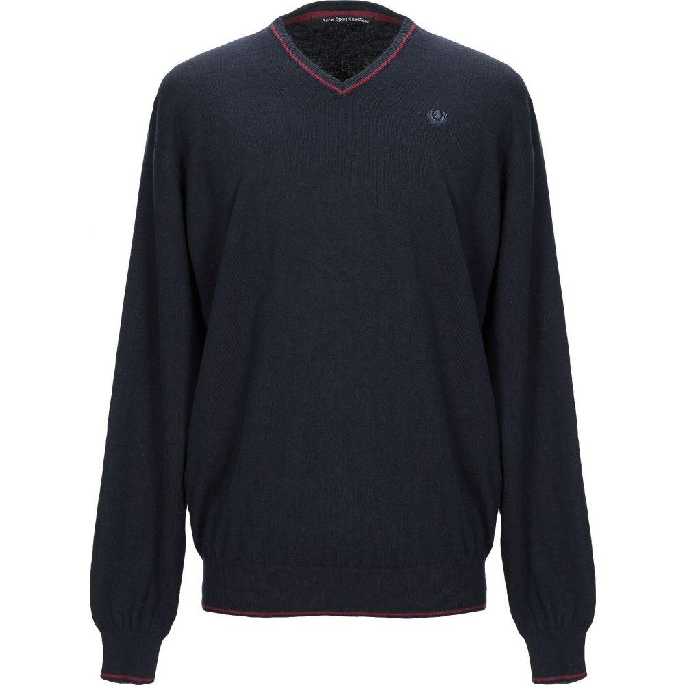 アスコットスポーツ ショップ メンズ トップス ニット セーター Dark SPORT blue Sweater 激安 激安特価 送料無料 サイズ交換無料 ASCOT
