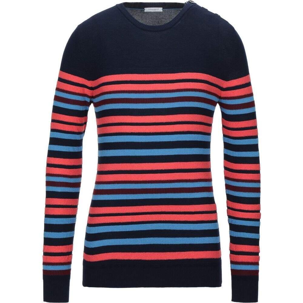 買い物 パオロ ペコラ メンズ トップス ニット セーター 期間限定 PAOLO サイズ交換無料 Dark PECORA blue Sweater